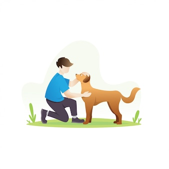 Człowiek z psem