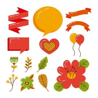 Czternaście jesiennych zestawów ikon