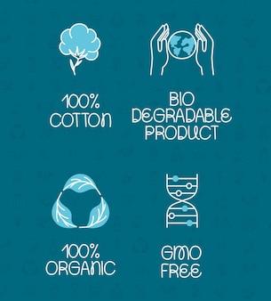 Cztery etykiety ekologiczne