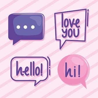 Cztery ikony wirtualnych relacji