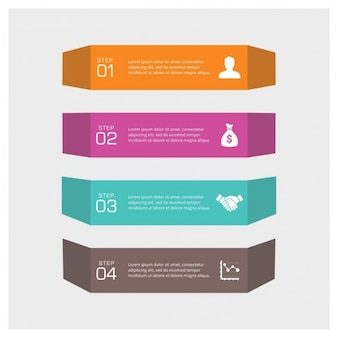 Cztery kroki informacji graficznych można zilustrować strategię lub obieg