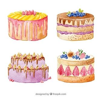 Cztery piękne tort urodzinowy