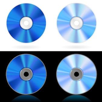 Cztery realistyczne płyty cd i dvd