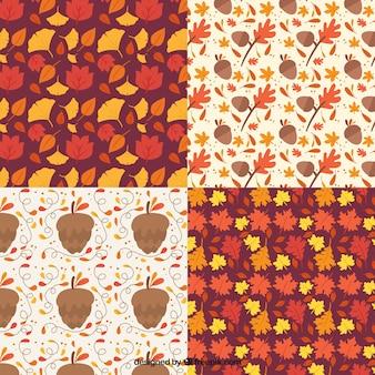 Cztery różne wzory, jesienią