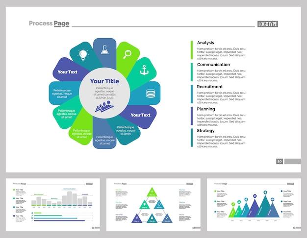 Cztery szablony slajdów biznesowych