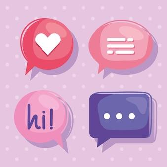 Cztery wirtualne bańki relacji