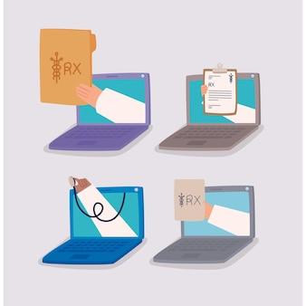 Cztery wirtualne rx