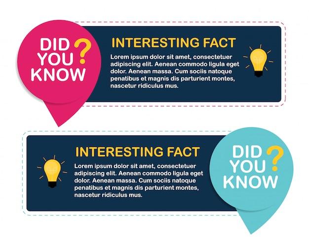 Czy wiesz, że naklejka z ciekawymi faktami. ilustracja