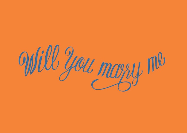 Czy wyjdziesz za mnie za projekt typografii
