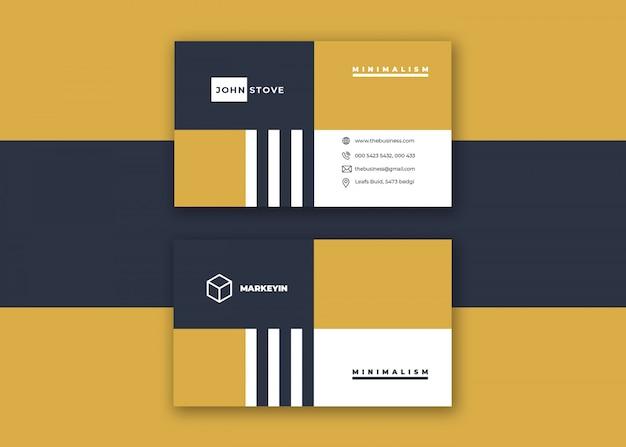 Czysta kolorowa kreatywna kolorowa korporacyjna minimalna wizytówka