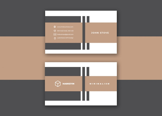 Czysta korporacyjna kreatywna kolorowa minimalna wizytówka