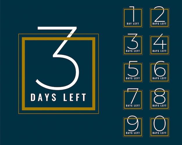 Czysta liczba dni pozostały do projektu banera