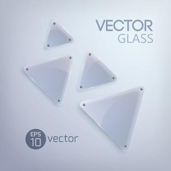 Czysta szklana rama, trójkątny kształt