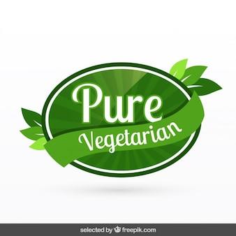 Czysta wegetariańska odznaka