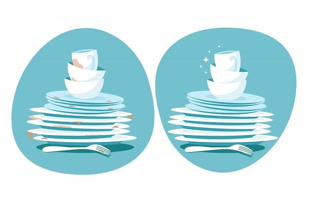 Czyste i brudne naczynia
