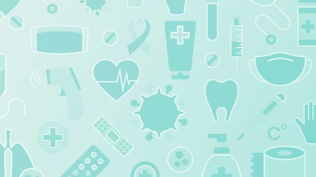 Czyste medyczne wzorzyste tło wektor