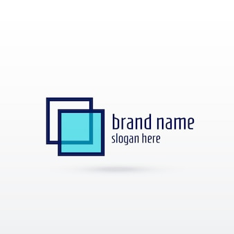 Czyste projektowanie logotypu sqaure dla twojej marki