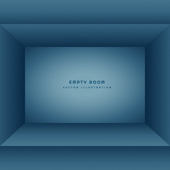Czyste pusty pokój w kolorze niebieskim