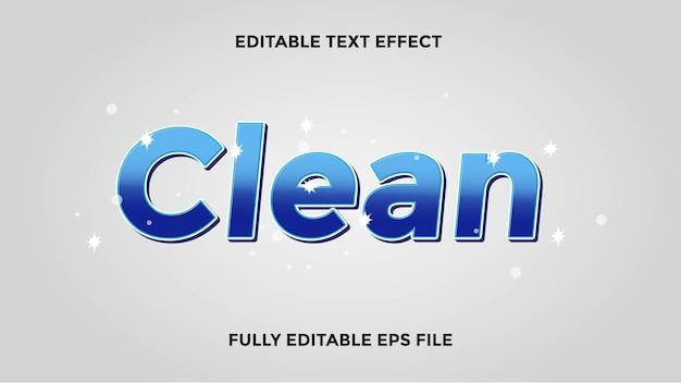 Czysty edytowalny efekt tekstowy