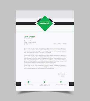 Czysty i nowoczesny szablon firmowego papieru firmowego