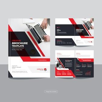 Czysty korporacyjny szablon broszury biznesowej