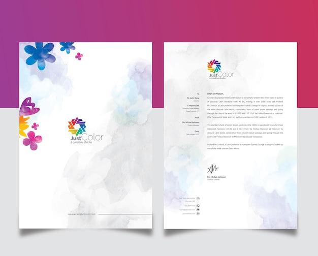 Czysty kreatywny papier firmowy