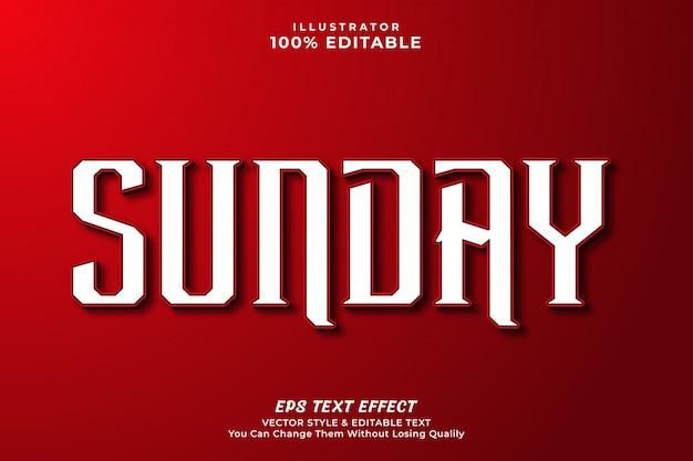 Czysty nowoczesny efekt tekstowy - edytowalny styl tekstu.