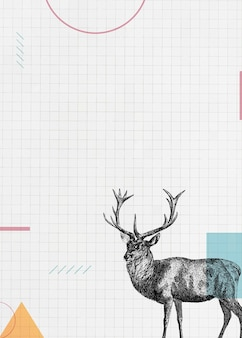 Czysty papier z jeleniem