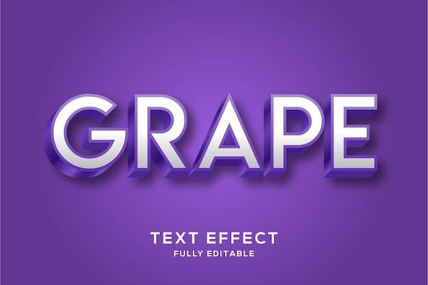 Czysty, pogrubiony, fioletowy efekt tekstowy