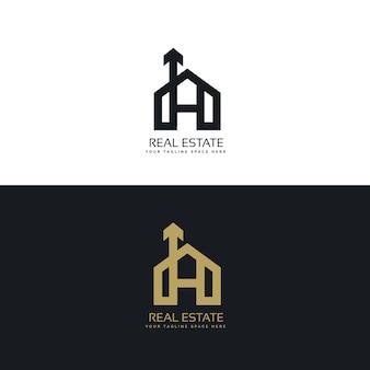 Czysty projekt logo dom z symbolem strza? ki