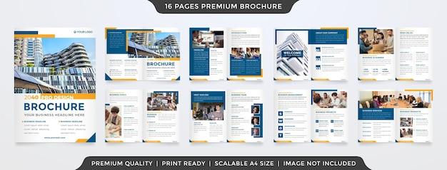 Czysty szablon broszury w stylu premium