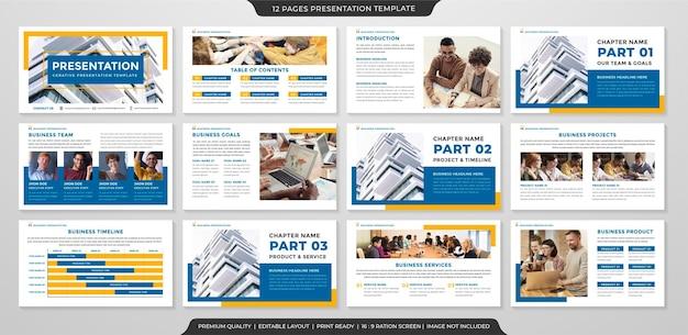 Czysty szablon prezentacji biznesowej