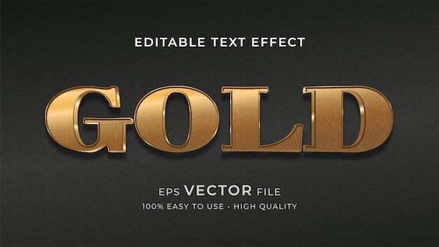 Czysty złoty efekt edytowalny tekst efekt koncepcji