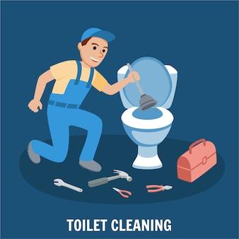Czyszczenie toalety