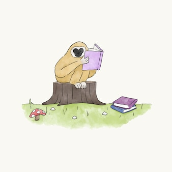 Czytanie małpy z książki