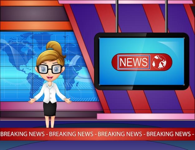 Czytnik wiadomości rozpowszechnia się w telewizji