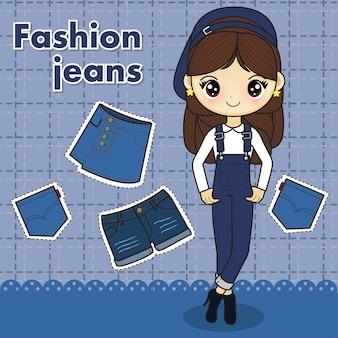 Dżinsy modne