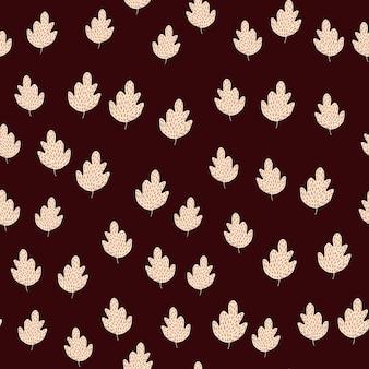 Dąb naturalny wzór. tło liści w stylu skandynawskim.