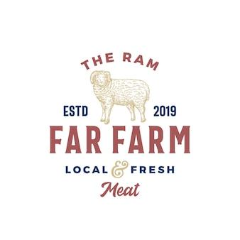 Dalekiej farmy mięsnej streszczenie wektor znak, symbol lub szablon logo