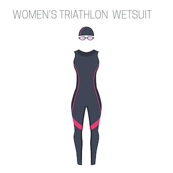 Damska kombinezon bez rękawów triathlon