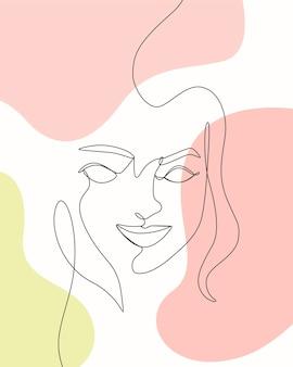 Damski minimalistyczny design w stylu jednej linii rysowania linii arta