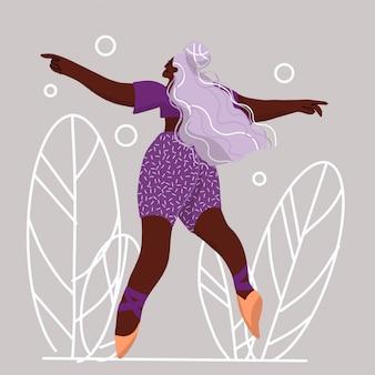 Dancing young woman, choreografia, taniec nowoczesny.