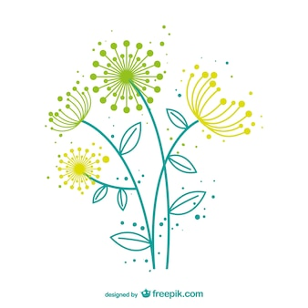 Dandelion wektor artystyczny