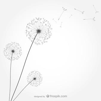 Dandelion wektor minimalistyczny