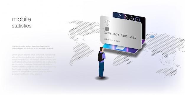 Dane analityczne i inwestycje. dane analityczne na izometrycznym laptopie. statystyki online i analiza danych. cyfrowy rynek pieniężny, inwestycje, finanse i handel.