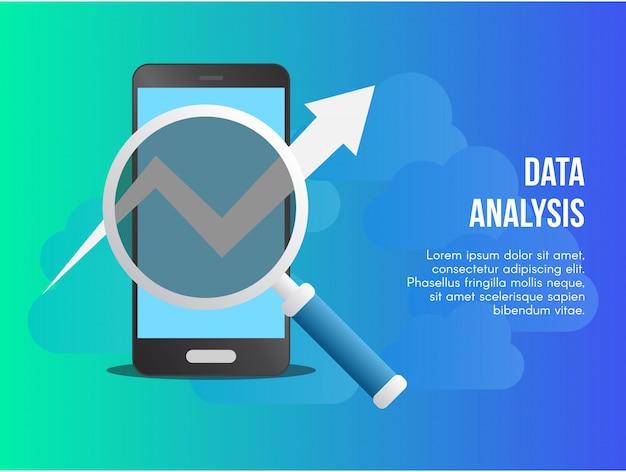 Dane analizy pojęcia projekta wektorowy ilustracyjny szablon