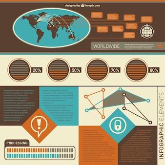 Dane globalne statystyki elementy infographic