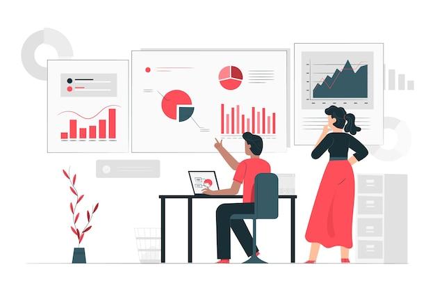 Dane informują ilustracja koncepcja
