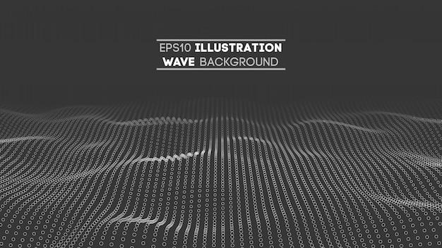 Dane technologii abstrakcjonistyczna futurystyczna ilustracja