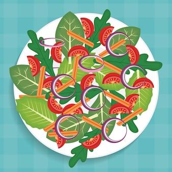 Danie z ikoną zdrowych warzyw